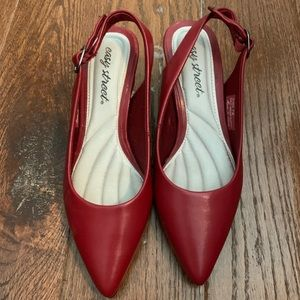 Red Low Heel shoes